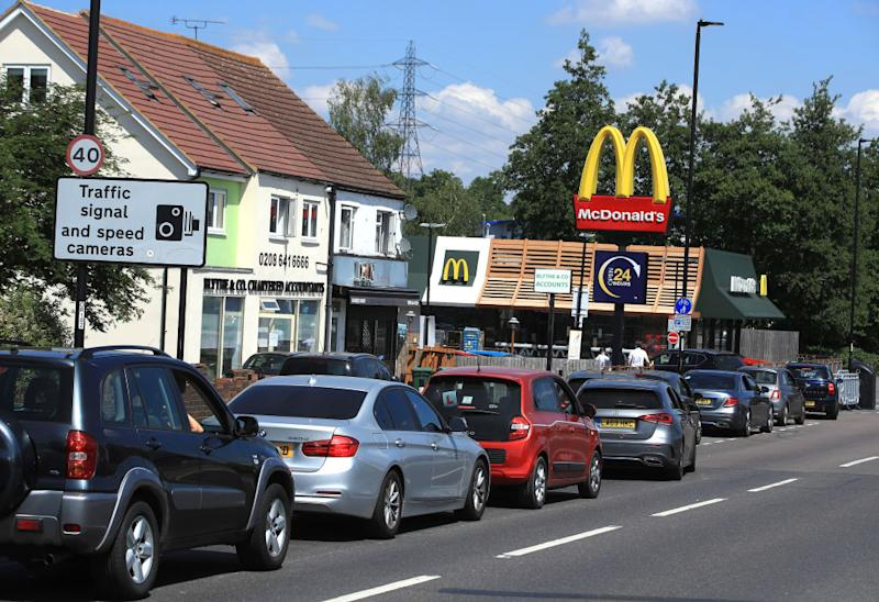 Brits have been queueing for hours to get their hands on McDonald's over the last week. Source: Getty