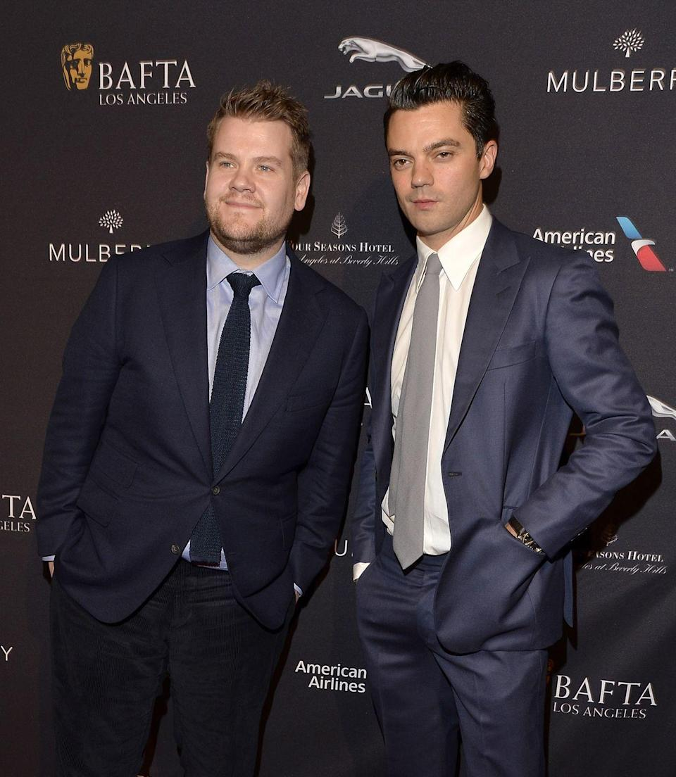 """<p>On the <em>Late Late Show</em>, Corden and his guest star Dominic Cooper <a href=""""http://ew.com/article/2016/05/17/dominic-cooper-james-corden-roommates/"""" rel=""""nofollow noopener"""" target=""""_blank"""" data-ylk=""""slk:reminisced about living together in a flat in London"""" class=""""link rapid-noclick-resp"""">reminisced about living together in a flat in London</a> with barely any furniture. """"We only had one piece of cutlery, which was a spatula,"""" Cooper said. """"And I remember a really depressing evening where he caught me—he came home and I was just eating baked beans with the spatula.""""</p>"""