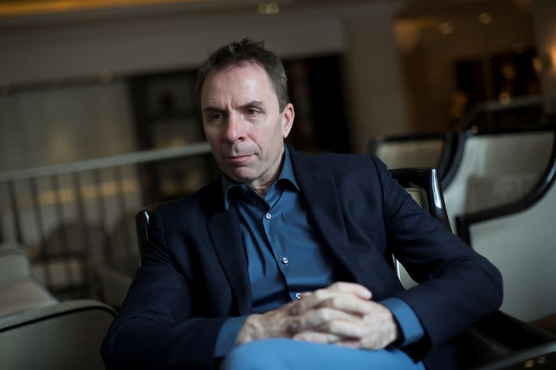 Jozsef Varadi, Chief Executive Officer of Wizz Air speaks during an interview in London