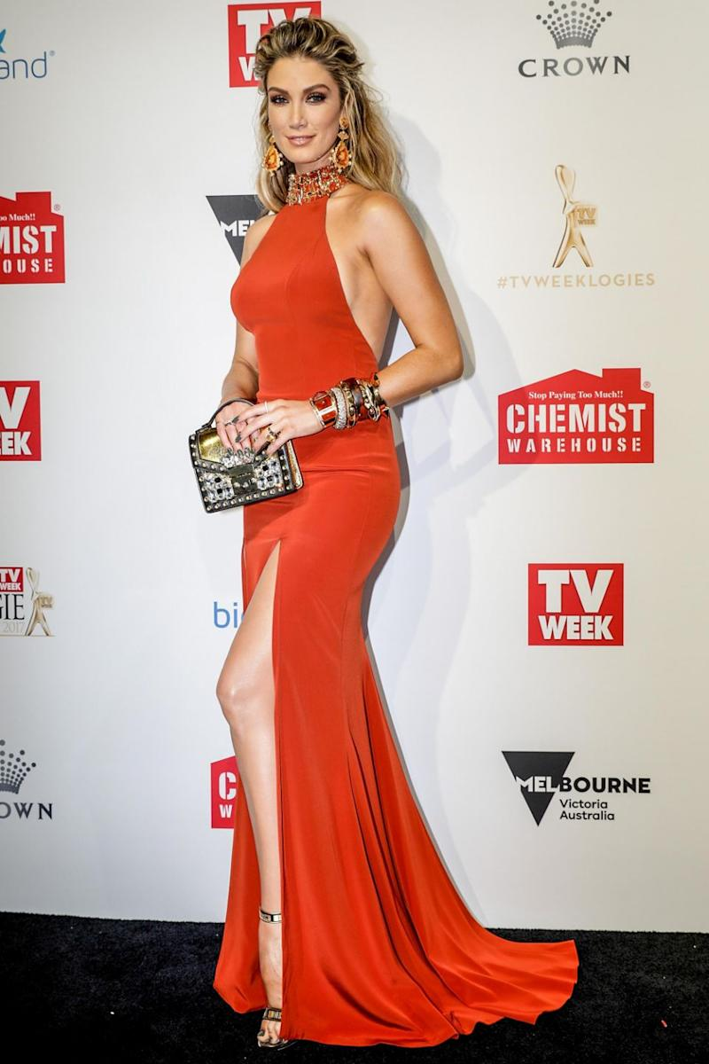 Delta Goodrem has been criticised by a fashion designer. Source: Getty