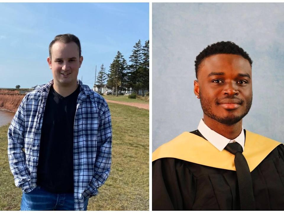 Aly Inman, left, and Emmanuel Egwuatu aspire to get into medical school. UPEI will open a faculty of medicine in 2023 in conjunction with Memorial University of Newfoundland. (Submitted - image credit)