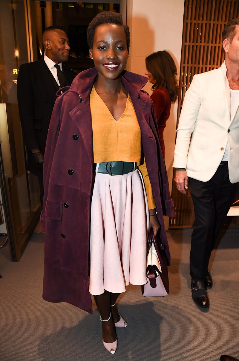 Lupita Nyong'o in Bally in 2017. Photo by Richard Young.