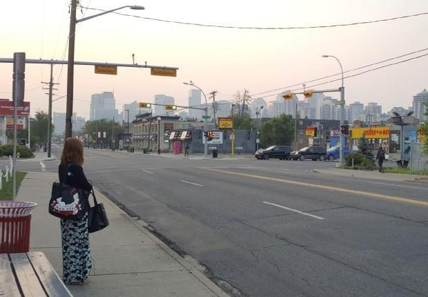 This is a file photo of hazy conditions in Calgary. Environment Canada issued a special air quality statement for the city on Friday. The weather agency said elevated pollution levels are expected or occurring. (Rachel Ward/CBC - image credit)