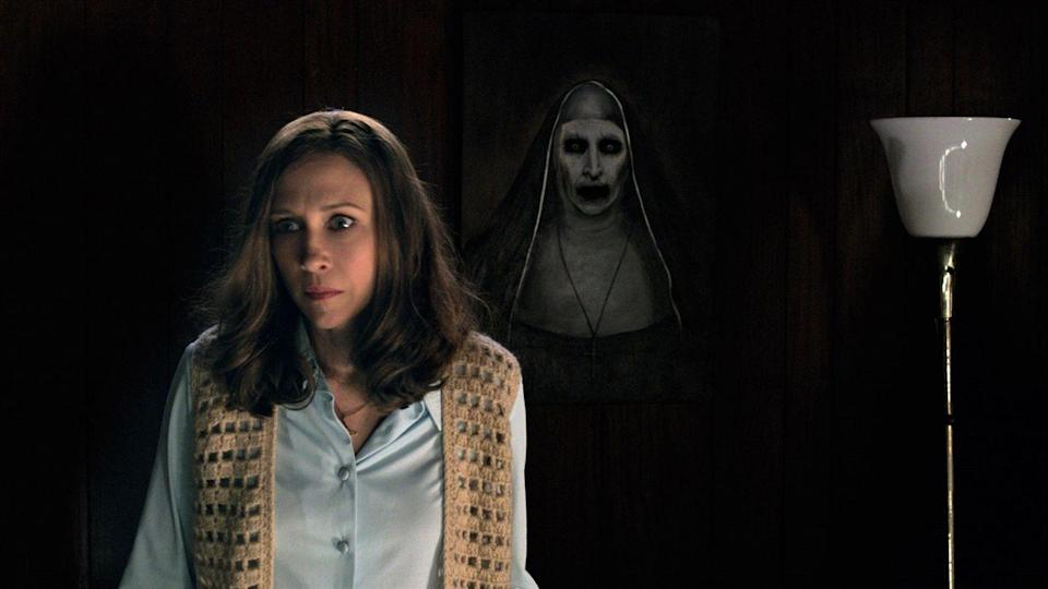 """<p><strong><em>The Conjuring 2</em></strong></p><p>After facing much scrutiny for investigating 'The Amityville Horror' case in Long Island, paranormal investigators Ed and Lorraine Warren travel to Enfield to help a young girl who is possessed by a malicious spirit.<br></p><p><a class=""""link rapid-noclick-resp"""" href=""""https://www.amazon.com/Conjuring-2-Vera-Farmiga/dp/B01GSUVGA8/?tag=syn-yahoo-20&ascsubtag=%5Bartid%7C10055.g.29120903%5Bsrc%7Cyahoo-us"""" rel=""""nofollow noopener"""" target=""""_blank"""" data-ylk=""""slk:WATCH NOW"""">WATCH NOW</a></p>"""