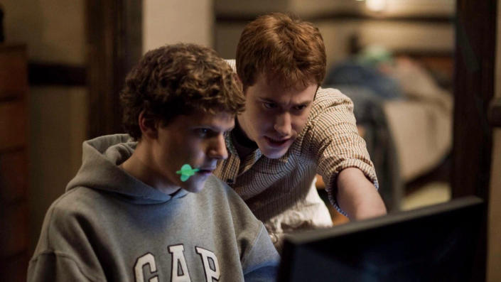 'The Social Network' depicts the creation of Facebook. (Credit: Columbia Pictures)