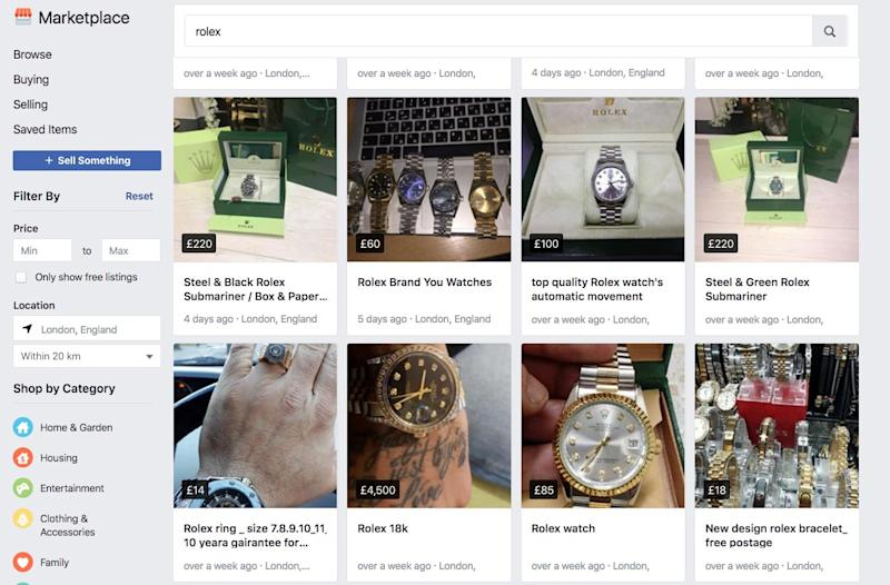 b219d5f5c31 Our mission to buy a fake Rolex on Facebook reveals how the company ...