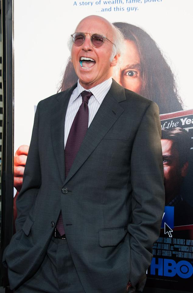 "HOLLYWOOD, CA - JULY 31: Larry David arrives at the Premiere Of HBO Films' ""Clear History"" at ArcLight Cinemas Cinerama Dome on July 31, 2013 in Hollywood, California. (Photo by Valerie Macon/Getty Images)"