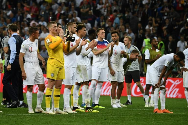 United and proud: England were given a rousing ovation by their fans despite defeat to Croatia