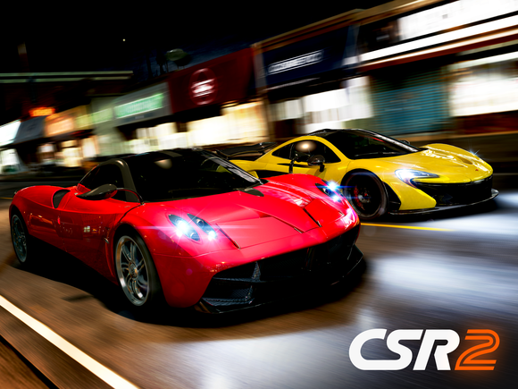 Cover art for Zynga's CSR2 racing game.