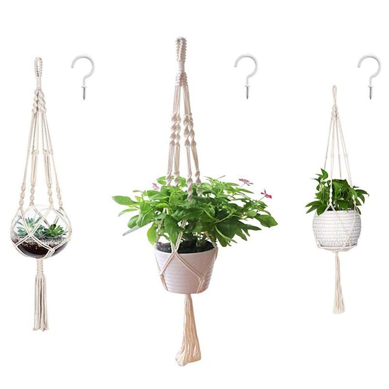AOMGD Macrame Plant Hangers and Hooks. (Photo: Amazon)