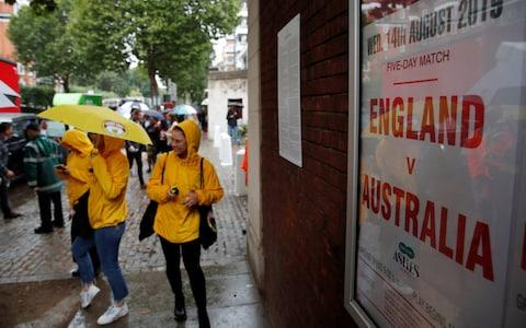 <span>Australia fans arrive at a rainy Lord's</span> <span>Credit: action images </span>