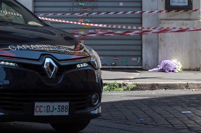 Foto Valerio Portelli/LaPresse 26-07-2019 Roma, Italia Omicidio in Prati Cronaca Nella foto: Omicidio in Prati Photo Valerio Portelli/LaPresse 26 July 2019 Rome, Italy Murder in Prati suburb News In the pic: Murder in Prati suburb