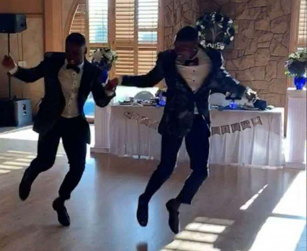 PHOTO: Taylor and Isaiah stunned the crowd with a high energy dance routine at their wedding. (Robert Rinehardt III/TheChancellorsCloset)