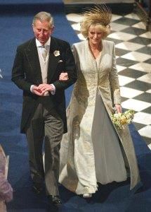 Charles and Camilla on their wedding day in 2005.