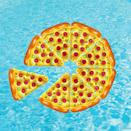 <p>Looking for something you can share with your whole group of friends? Grab a couple of these <span>Joyin Giant Inflatable Pizza Slice Pool Floats</span> ($26) and attach them together.</p>
