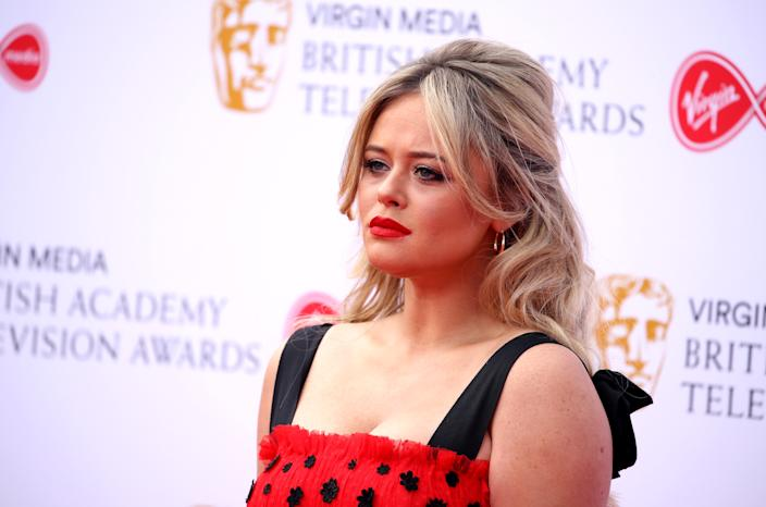 LONDON, ENGLAND - MAY 12:  Emily Atack attends the Virgin Media British Academy Television Awards 2019 at The Royal Festival Hall on May 12, 2019 in London, England. (Photo by Mike Marsland/WireImage)