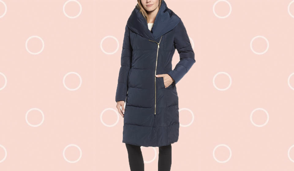 The most stylish puffer coat we ever did see. (Photo: Nordstrom Rack)