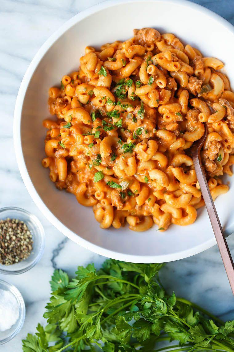 """<p>This cheesy, meaty homemade take on Hamburger Helper is exactly what you need for a mid-week pick-me-up.</p><p><strong>Get the recipe at <a href=""""https://damndelicious.net/2019/12/06/instant-pot-cheeseburger-mac-and-cheese/"""" rel=""""nofollow noopener"""" target=""""_blank"""" data-ylk=""""slk:Damn Delicious"""" class=""""link rapid-noclick-resp"""">Damn Delicious</a>.</strong></p><p><strong><strong><a class=""""link rapid-noclick-resp"""" href=""""https://www.amazon.com/Instant-Pot-Multi-Use-Programmable-Pressure/dp/B00FLYWNYQ/?tag=syn-yahoo-20&ascsubtag=%5Bartid%7C10063.g.36311962%5Bsrc%7Cyahoo-us"""" rel=""""nofollow noopener"""" target=""""_blank"""" data-ylk=""""slk:SHOP INSTANT POTS"""">SHOP INSTANT POTS</a></strong><br></strong></p>"""
