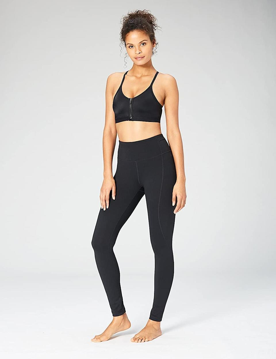 <p>Available in extended sizing, customers praise the <span>Core 10 Women's Build Your Own Yoga Pant Full-Length Legging</span> ($45) because they're comfortable and warm yet breathable. These leggings are always sold out, so get your hands on them while you can!</p>