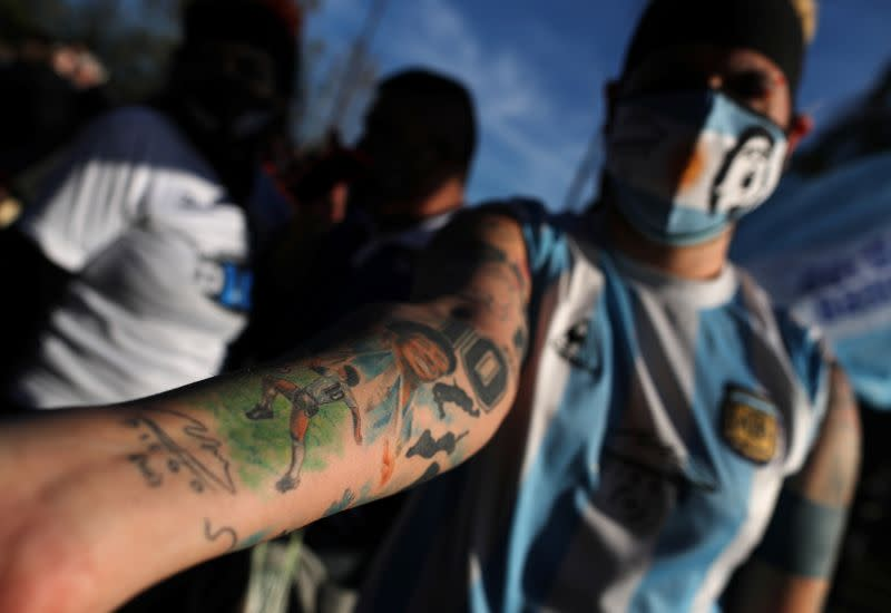 Maradona's fans remember the idol with a colorful memorial in Buenos Aires