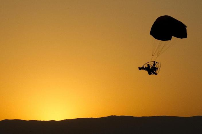 Israel said the paraglider took off from the southern section of the Golan Heights (AFP Photo/JACK GUEZ)