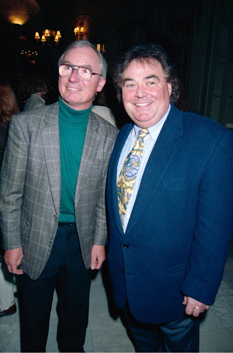 With comedy partner Syd Little in 1994 (Photo: Dave Benett via Getty Images)