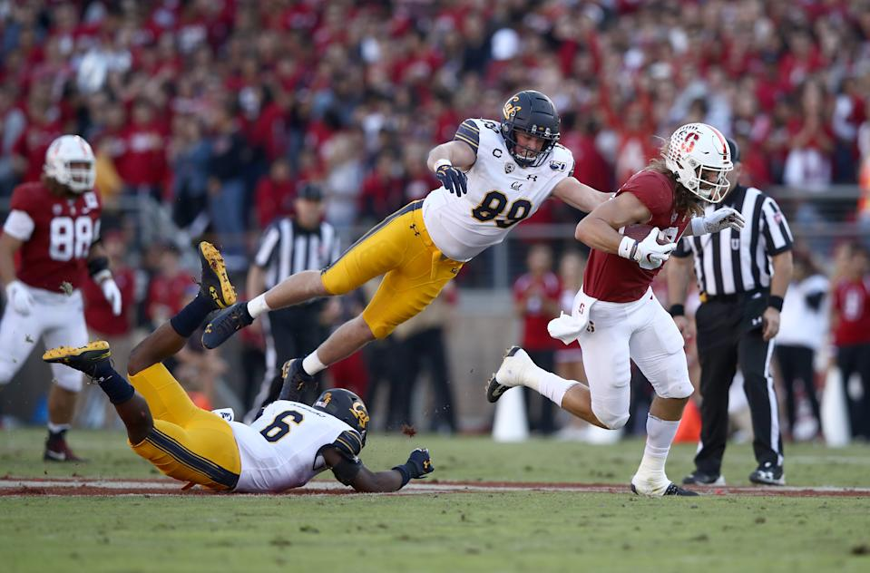 Cal LB Evan Weaver has over 170 tackles in 2019. (Photo by Ezra Shaw/Getty Images)