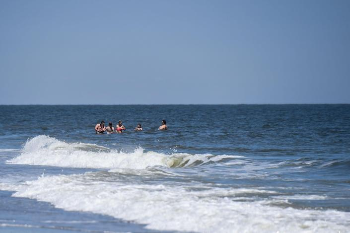 Tybee Island, Georgia, where a shark bit a surfing instructor earlier this week. (AFP via Getty Images)