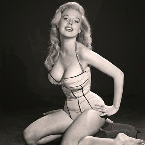 Brosmer was often photographed in underwear but refused to bare all for Playboy - BettyBrosmer.com/BettyWeider.com