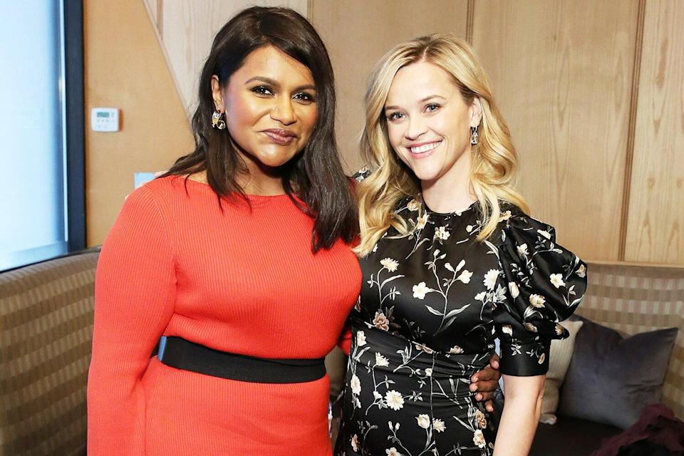 Mindy Kaling and Reese Witherspoon pose during the Hulu '19 Presentation at Hulu Theater at MSG on May 01, 2019 in New York City.