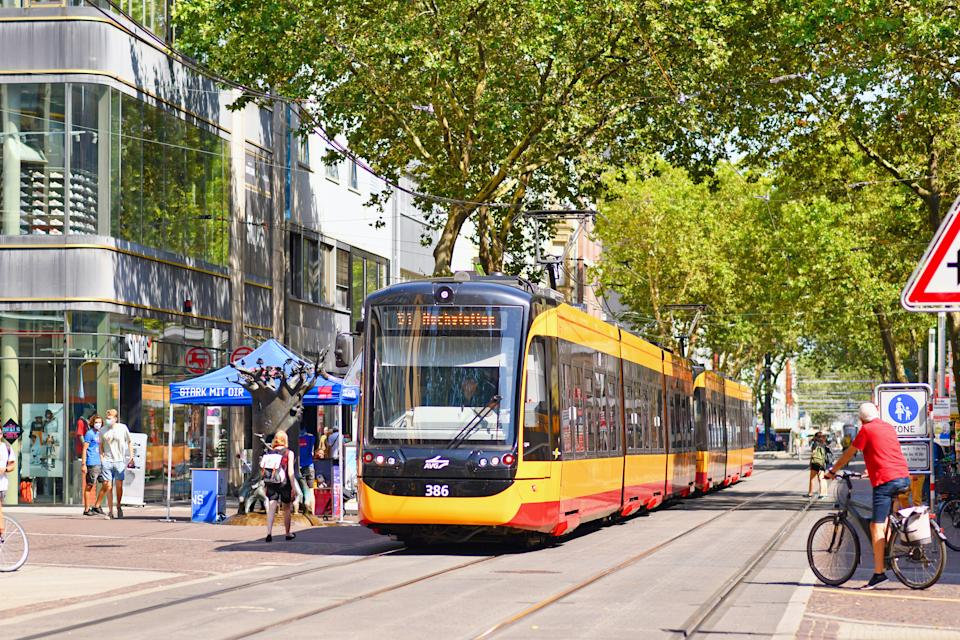 Tram moving through town centre. Source: Getty Images