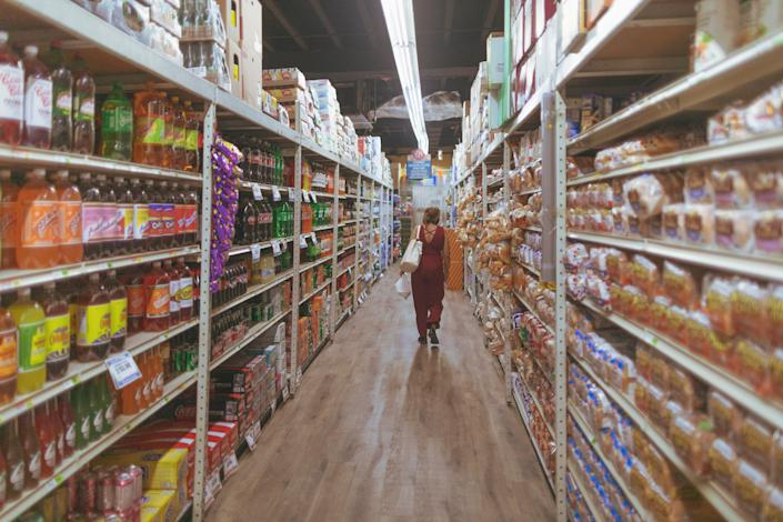 Elsa Romero shops for food at a supermarket March 16 in Miami.