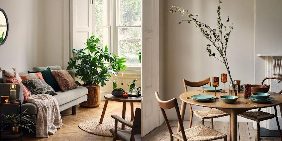 """<p><strong>Looking to refresh your <a href=""""https://www.housebeautiful.com/uk/decorate/a36981736/houzz-design-trends-summer/"""" rel=""""nofollow noopener"""" target=""""_blank"""" data-ylk=""""slk:interiors"""" class=""""link rapid-noclick-resp"""">interiors</a> for less? George Home at Asda has just launched four new autumn/winter 2021 trends — Forest Treasure, English Weekend, Other World and The Entertainer — and we're obsessed with them all. </strong><br><br>'After 18 months of continuous change and adjusting to new conditions, we transition into autumn with a more positive outlook and a second chance to embrace 2021,' says Julie Varma, senior director for <a href=""""https://direct.asda.com/george/home/D26,default,sc.html"""" rel=""""nofollow noopener"""" target=""""_blank"""" data-ylk=""""slk:George Home"""" class=""""link rapid-noclick-resp"""">George Home</a>. </p><p>'We know the home has become the hub of everything and a safe haven. Even though there will be a shift in habits as we explore the """"new normal"""", we'll continue to support the re-appreciation of the simple things, friends, family, health and wellbeing.'<br><br>On the hunt for some new homewares? Take a look at the hero pieces below..<br></p>"""