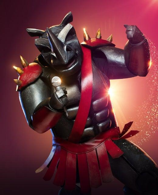 The Rhino on The Masked Singer Australia 2019. Photo: Channel 10