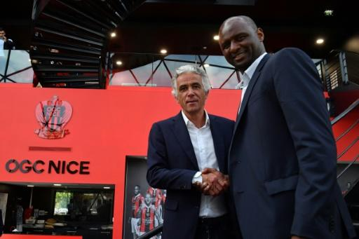 Patrick Vieira (R) is the new coach at Nice