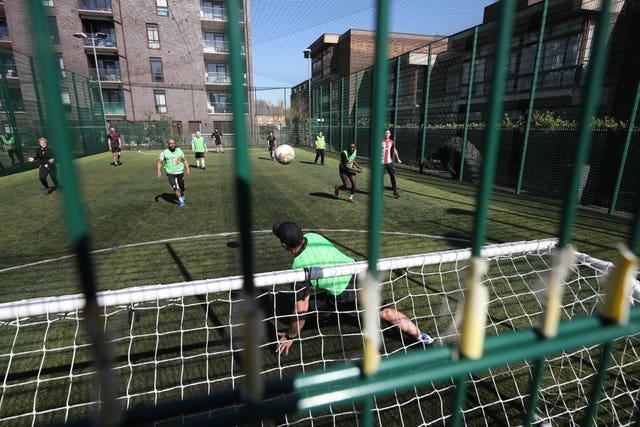 Five-a-side football was back in south London