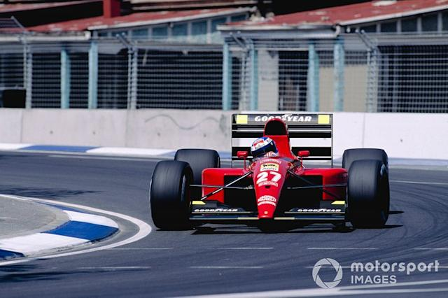 "Gianni Morbidelli, Ferrari 643 <span class=""copyright"">Motorsport Images</span>"