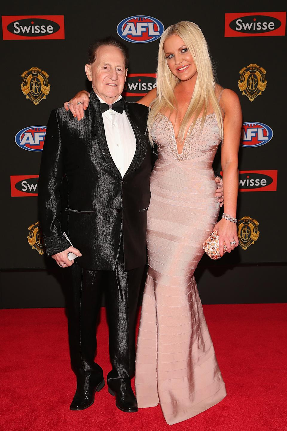 arrives ahead of the 2013 Brownlow Medal at Crown Palladium on September 23, 2013 in Melbourne, Australia.