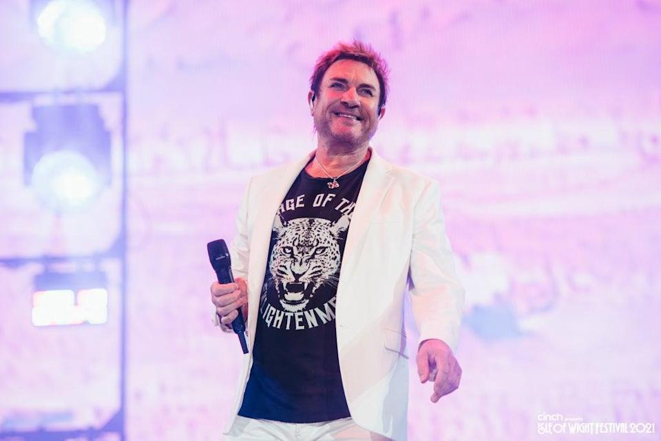 Frontman Simon Le Bon performed to a packed crowd on the festival's main stage  (Callum Baker)