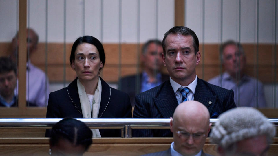 Sian Clifford and Matthew Macfadyen as Diana and Charles Ingram in 'Quiz'. (Credit: ITV)