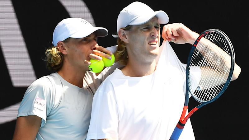 Max Purcell and Luke Saville lost the Australian Open doubles final.