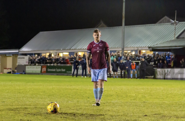 Penalty shoot out between Taunton Town FC and Truro City (Credit: twitter.com/TauntonTownFC)