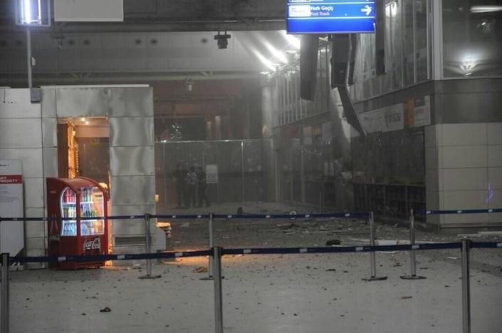 <p>A view of the entrance of the Ataturk international airport after two suicide bombers opened fire before blowing themselves up at the entrance, in Istanbul, Turkey June 28, 2016. (Courtesy of 140journo/via Reuters) </p>