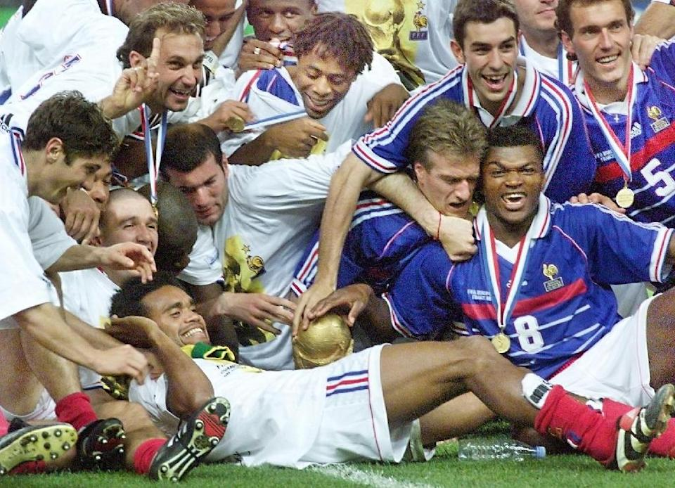 France's World Cup-winning side in 1998 were held up as a model of racial integration at a time of tensions about immigration (AFP Photo/Pedro UGARTE)