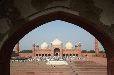 General view of Eid al-Adha prayer at the Badshahi Mosque in Lahore