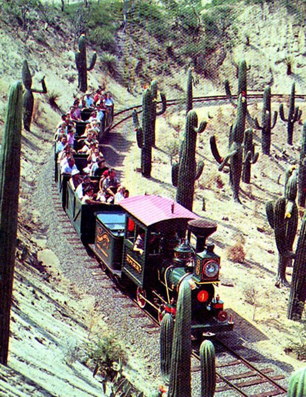 "<p>Part of Frontierland's now-defunct Living Desert region which opened in 1956, this winding train ride went in, under, and around the lovingly decorated Rainbow Caverns. In 1960, it was renamed Mine Train Through Nature's Wonderland and took visitors through peaks (specifically Cascade Peak) and valleys (Beaver Valley). Seventeen years later, it was boarded up to make room for one of Disneyland's best coasters, Big Thunder Mountain Railroad. <i><a href=""https://flic.kr/p/nmoB3h"" rel=""nofollow noopener"" target=""_blank"" data-ylk=""slk:(Photo: Tom Simpson/Flickr)"" class=""link rapid-noclick-resp"">(Photo: Tom Simpson/Flickr)</a></i></p>"