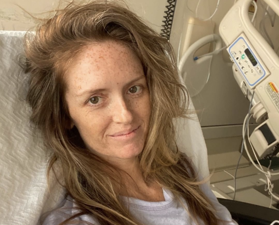 Lindy Thackson was diagnosed with cancer after her colonoscopy was cancelled three times. Source: Instagram