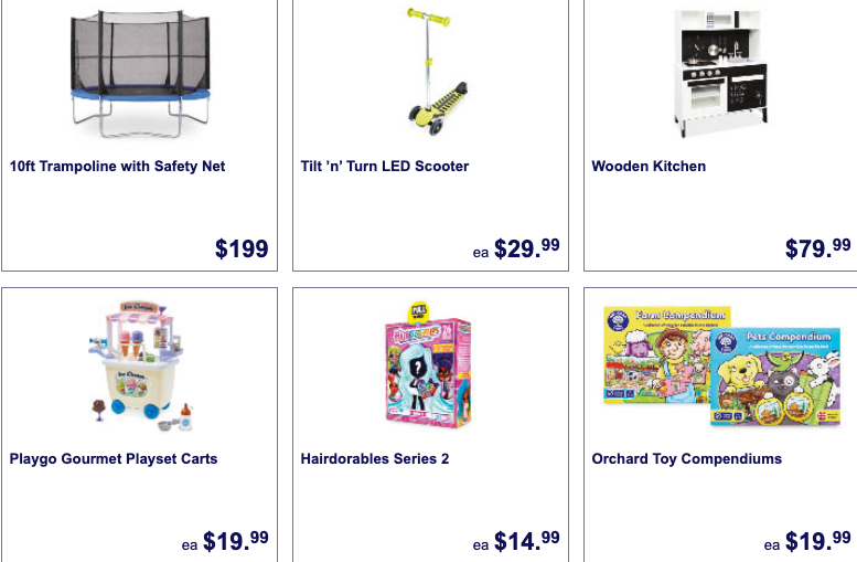 Toys on sale as Aldi Special Buys this week.
