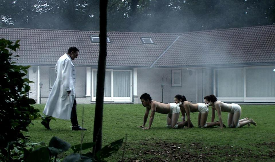 """<p>You may not want to ever watch this infamously disgusting 2009 movie, but you can still visit the real-life Dutch villa where the German scientist Dr. Heiter orchestrated his dastardly deeds. It's in Het Gooi in the central part of the Netherlands. Filmmakers <a href=""""https://en.m.wikipedia.org/wiki/The_Human_Centipede_%28First_Sequence%29#Filming"""" rel=""""nofollow noopener"""" target=""""_blank"""" data-ylk=""""slk:had to devise ways"""" class=""""link rapid-noclick-resp"""">had to devise ways</a> to hide the neighboring houses from the camera's view.</p>"""