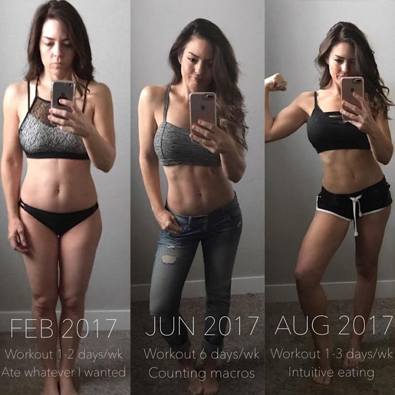 This is her six-month transformation. Photo: Australscope
